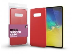 Samsung Galaxy S10e Matt Korallpiros Ultra vékony Szilikon tok