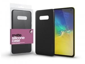 Samsung Galaxy S10e Matt Fekete Ultra vékony Szilikon tok