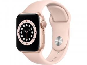 Apple Watch Series 6 GPS 44mm Arany Alumínium Ház Rózsaszín Sportszíjjal