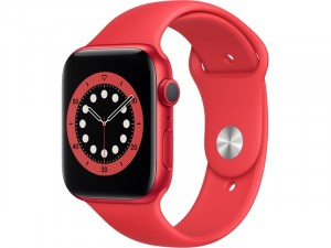 Apple Watch Series 6 GPS 44mm Piros Alumínium Ház Piros Sportszíjjal