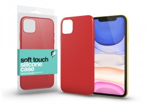 Apple iPhone 11 Pro Max Soft Touch Korallpiros Szilikon tok