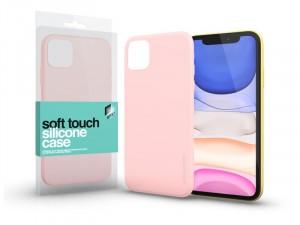 Apple iPhone 11 Soft Touch Púder Rózsaszín Szilikon tok