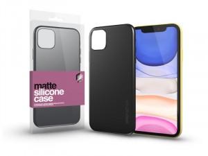 Apple iPhone 12 mini Matt fekete Ultra Vékony Szilikon tok