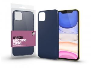 Apple iPhone 11 Matt Sötétkék Ultra Vékony Szilikon tok