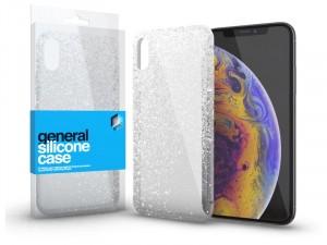 Apple iPhone 11 Pro Max Ultra vékony Csillámos Átlátszó Szilikon tok