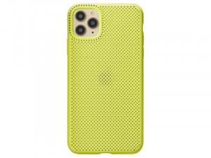 Apple iPhone 11 Citromsárga színű Lélegző Szilikon tok