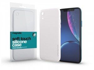 Apple iPhone Xr Soft-Touch Mágneses Fehér Szilikon tok