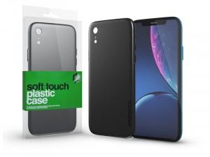 Apple iPhone Xr Soft Touch Fekete Plasztik tok