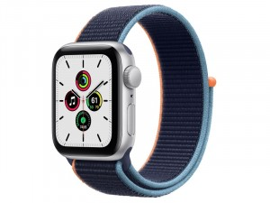 Apple Watch SE 2020 GPS+ Cellular 40mm Ezüst alumínium tok mély tengerészkék sportpántos Okosóra