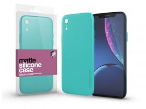 Apple iPhone Xr Matt Mentazöld Ultra Vékony Szilikon tok