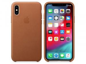 Apple iPhone X Vörösesbarna Bőr tok