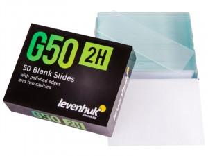 Levenhuk G50 2H dupla üreges üres tárgylemez (50 darab) (73809)