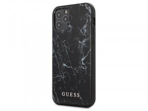 Apple iPhone 12 Guess Fekete mintás Polikarbonát+Poliuretán tok