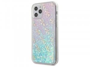 Apple iPhone 12 mini Guess Liquid Glitter Színjátszó Szilikon tok