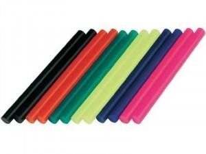 Dremel 12db-os színes műanyag ragasztóstift, ragasztópálca készlet 7 mm