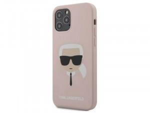 Apple iPhone 12 mini Karl Lagerfeld Rózsaszín, mintás tok