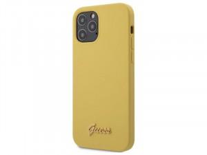 Apple iPhone 12 mini Guess Sárga TPU/Szilikon tok