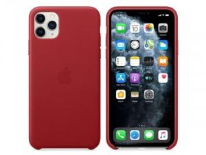 Apple iPhone 11 Pro Eredeti Apple Piros Bőr tok