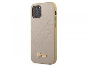 Apple iPhone 12 mini Guess Arany színű Love Guess feliratos TPU/Szilikon tok