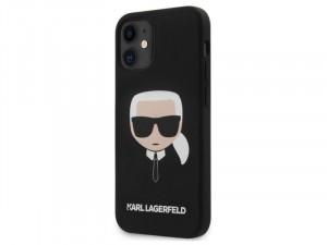 Apple iPhone 12 mini Karl Lagerfeld Fekete, mintás szilikon tok