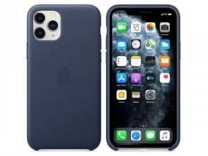 Apple iPhone 11 Pro Eredeti Apple Éjkék Bőr tok
