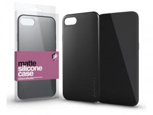 Samsung Galaxy A50 Matt fekete Ultra vékony Szilikon tok