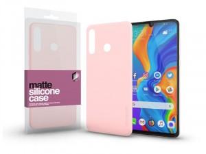Huawei P30 Lite Matt Púder Rózsaszín Ultra Vékony Szilikon tok