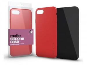 Xiaomi Redmi Note Pro 8 Matt Korallpiros Ultra Vékony Szilikon tok