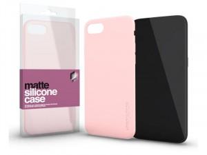 Samsung Galaxy A30s Matt Púder Rózsaszín Ultra Vékony Szilikon tok