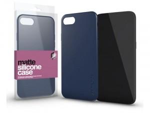 Samsung Galaxy A20s Matt Sötétkék Ultra Vékony Szilikon tok