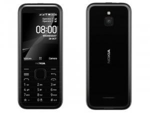 Nokia 8000 Dual-Sim Fekete Mobiltelefon