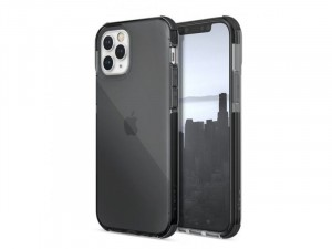 Apple iPhone 12 Pro Max Raptic Defense Clear TPU + PC Füstszürke tok
