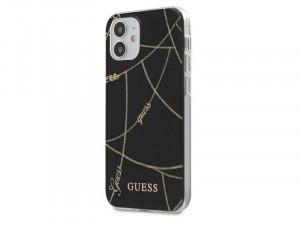 Apple iPhone 12 mini Guess Fekete, Arany lánc mintájú tok