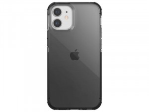 Apple iPhone 12 mini Raptic Defense Clear TPU + PC Füstszürke tok