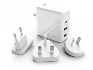 ADAM Elements Omnia P7 PD/QC3.0/74W USB-C Fehér hálózati gyorstöltő adapter