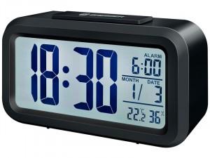 Bresser MyTime Duo LCD ébresztőóra, fekete (74601)