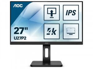 AOC 27 col, U27P2 IPS LED UHD Pivot monitor