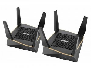 Asus AX6100 Mbps RT-AX92U 2 PACK Fekete router