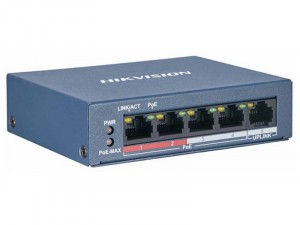 Hikvision DS-3E0105P-E/M(B) 5 portos POE switch