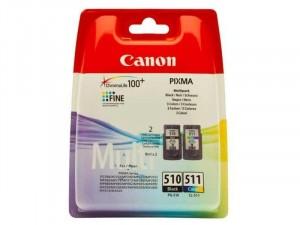 Canon PG-510 + CL-511 Dupla Csomag Fekete, Színes tintapatron