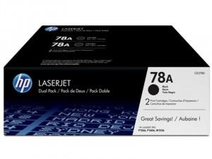 HP CE278AD - HP 78A - Dupla csomag Fekete toner