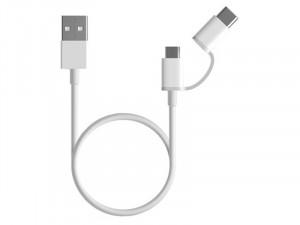Xiaomi Mi 2-in-1 USB-A to Micro USB/USB-C kábel 1m - Fehér