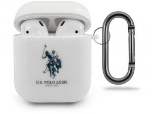 Apple Airpods U.S. Polo, US Polo logós Fehér Szilikon tok