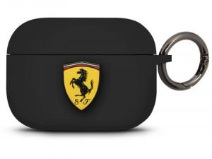 Apple Airpods Pro Ferrari, Ferrari logós Fekete Szilikon tok
