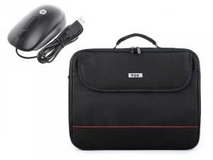 TOO 15,6 fekete notebook táska és HP H4B81AA vezetékes egér