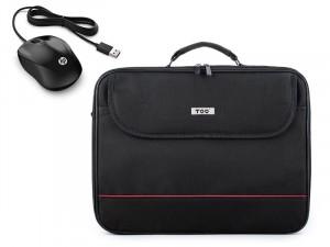 TOO 15,6 fekete notebook táska és HP 1000 vezetékes egér