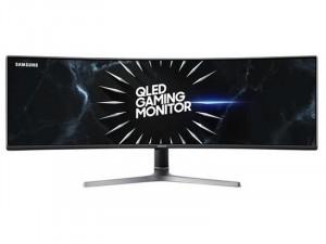 Samsung C49RG90SSR - 49 colos Ívelt kijelzős 120Hz VA QLED Dual QHD Sötétszürke Gamer monitor