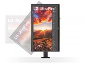 LG 27UN880-B - 27 colos Ultrafine™ UHD IPS USB-C Ergonomikus Fekete monitor