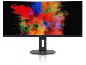 Fujitsu P34-9-US - 34 colos 21:9 Ívelt UWQHD Fekete monitor