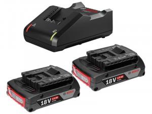 Bosch 2 x GBA 18V 2.0Ah akkumulátor + GAL 18V-40 töltő